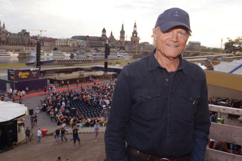 Terence Hill (79) ist zu Besuch in der sächsischen Landeshauptstadt.