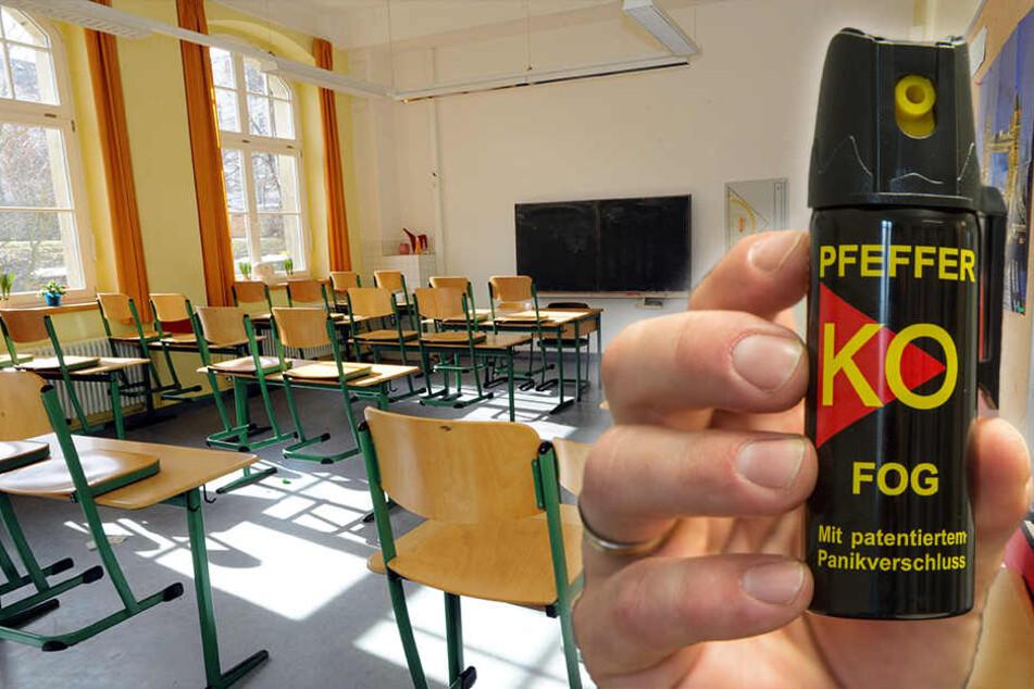 Das Pfefferspray wurde in einem Klassenzimmer versprüht.