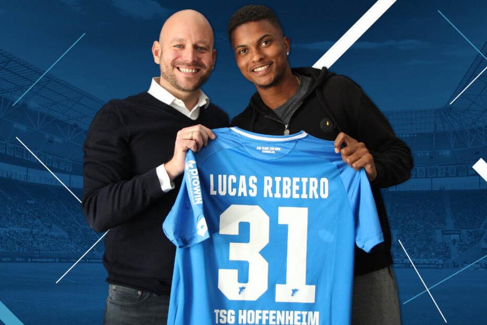 TSG-Direktor Profifußball Alexander Rosen stellt seinen neuen Kraichgau-Brasilianer Lucas Ribeiro dos Santos vor.