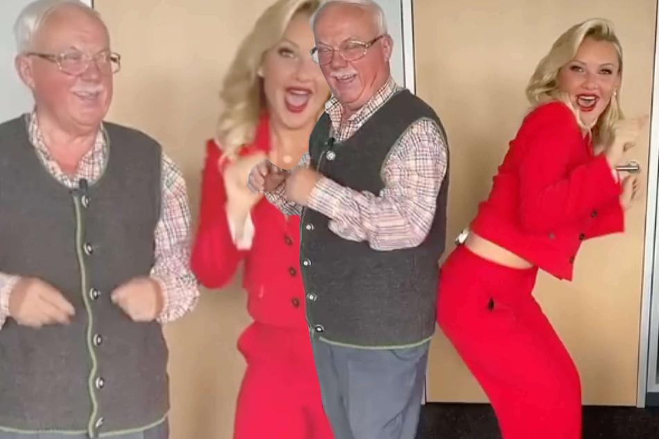 Evelyn Burdecki: Evelyn Burdecki begeistert Fans mit Papa-Tochter-Tanz