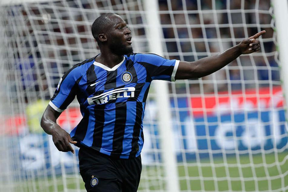 Lukaku nach einem Treffer im Spiel gegen US Lecce. Erst vor wenigen Wochen wurde er von Manchester United in die italienische Dom-Stadt transferiert.
