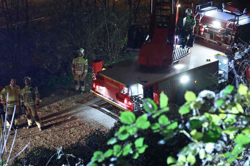 Feuerwehrleute waren im Plauenschen Grund im Einsatz.