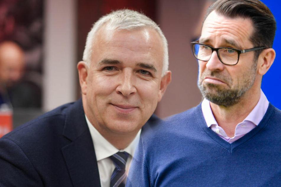 Michael Preetz hat Dirk Zingler für seine jüngsten Aussagen zum Derby kritisiert (Bildmontage)