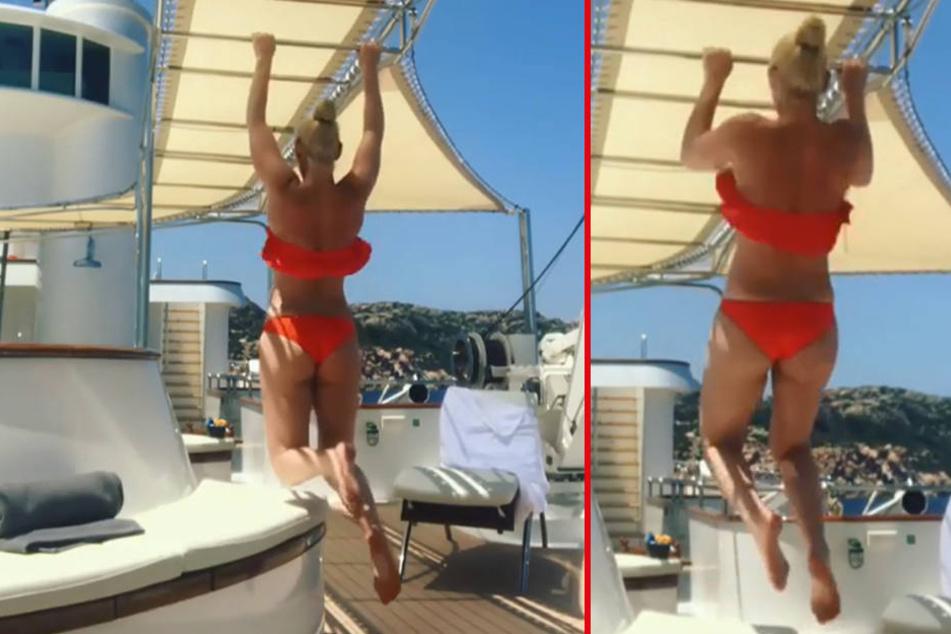 Sexy Bikini-Workout! Welcher Star lässt hier die Muckis spielen?