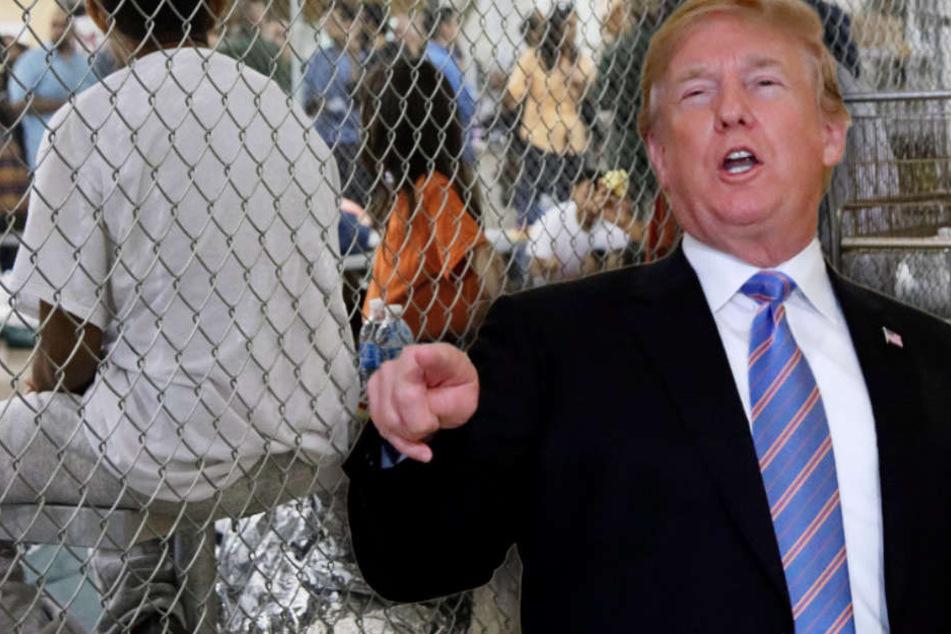 Donald Trump lenkt nach anhaltender weltweiter Kritik an seiner Politik ein.