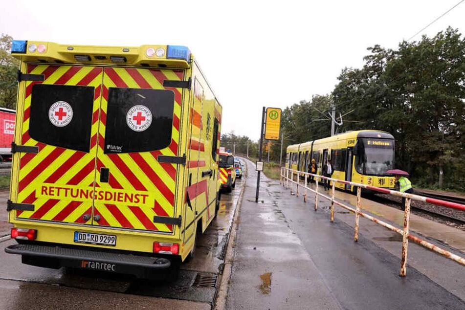 Polizei und Rettungsdienst waren im Einsatz.