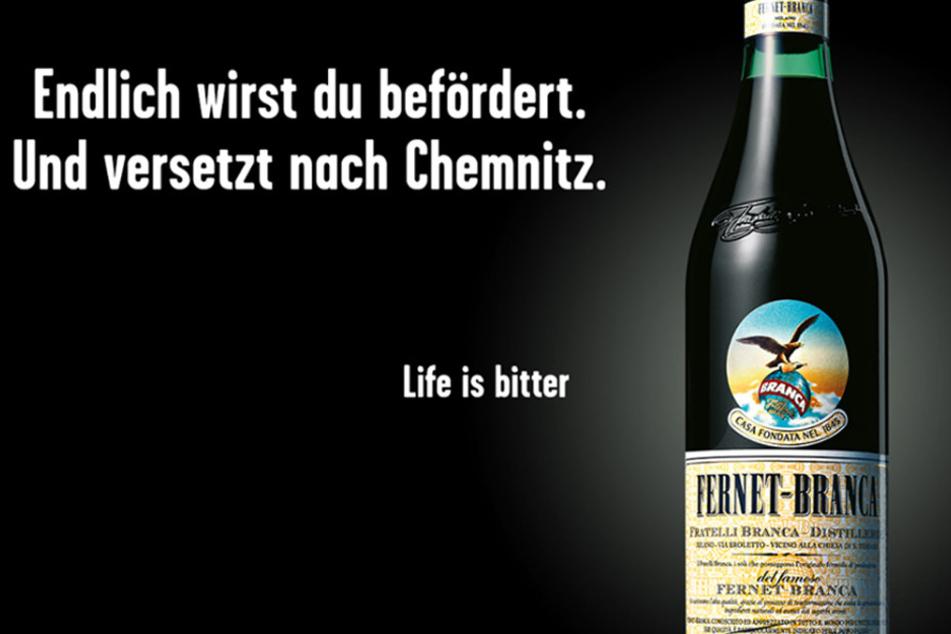Mit diesem Spruch sollen die Chemnitzer auch mal über sich schmunzeln können.