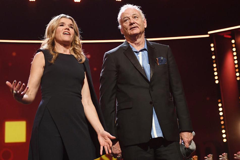 Bill Murray nahm den Regie-Preis für Wes Anderson entgegen.