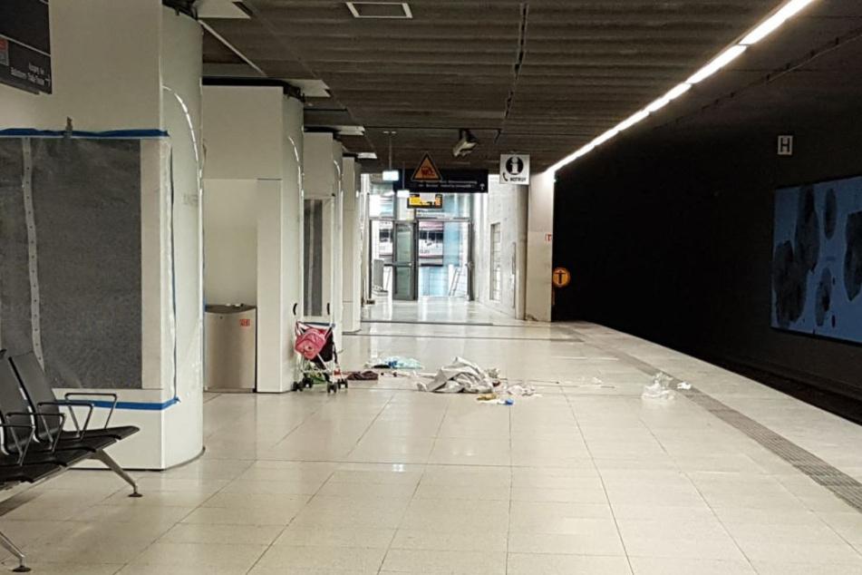 Die Tat geschah mitten am Tag an der Bahnhaltestelle Jungfernstieg.