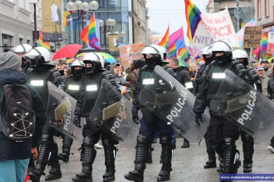 Der Angriff passierte während des Marsches für die Gleichstellung von Lesben und Schwulen in Breslau.