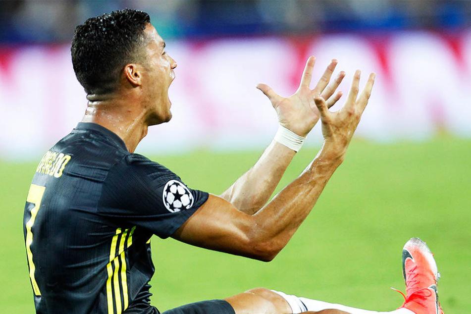 Cristiano Ronaldo wütete wie ein Teenager, weil er die Rote Karte überhaupt nicht nachvollziehen konnte.