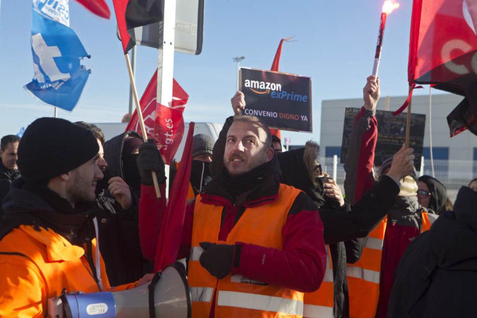 Erneuter Streik bei Amazon in Leipzig