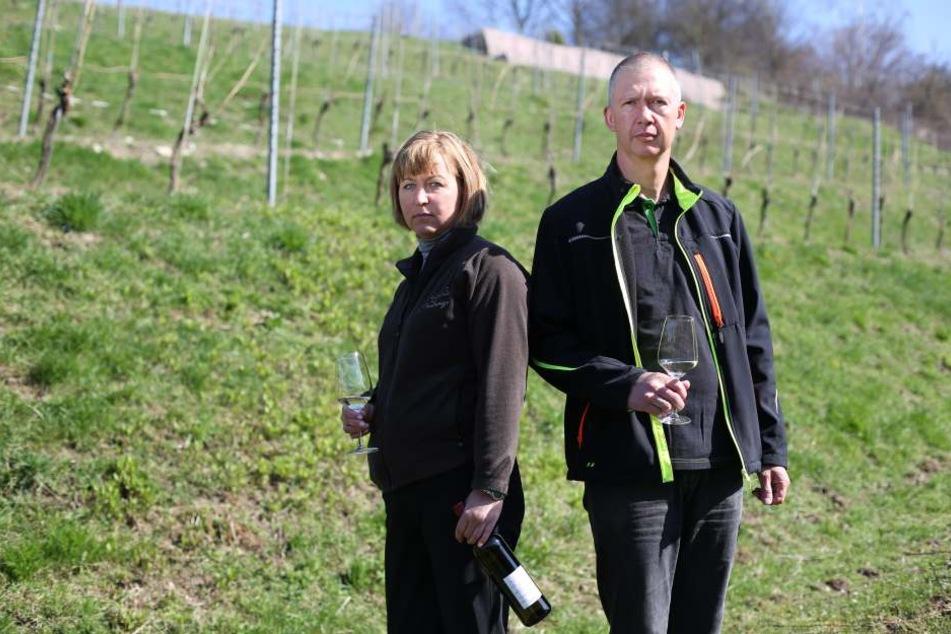 Das Ehepaar Ulrich (beide 46) in Diesbar-Seußlitz.