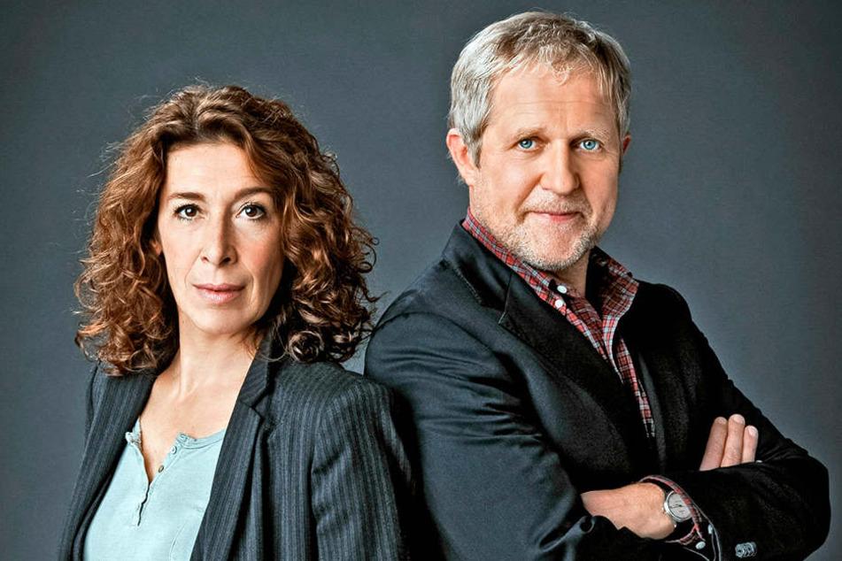 """Adele Neuhauser und Harald Krassnitzer Das """"Tatort""""-Team aus Österreich: Adele Neuhauser ermittelt als """"Bibi Fellner"""", Harald Krassnitzer als """"Moritz Eisner""""."""
