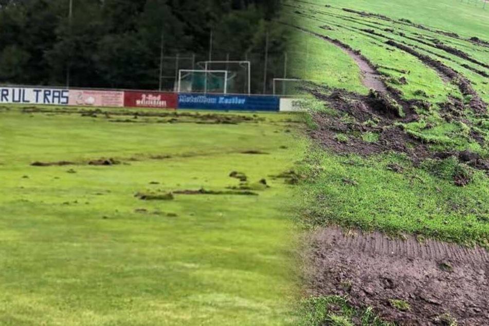 Fußballplatz in Feld der Verwüstung verwandelt: Amateurkicker mit emotionaler Botschaft