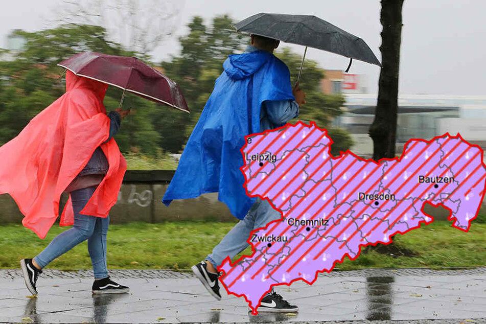 Der DWD hat eine amtliche Warnung für den Süden und Osten der Republik herausgegeben.