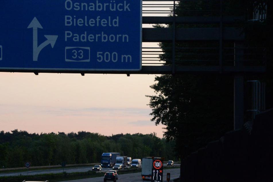 In Richtung Bielefeld liegt die Baustelle. (Symbolbild)