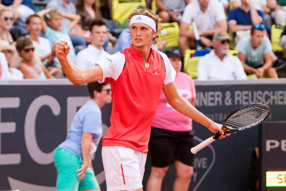 Alexander Zverev erreicht Viertelfinale bei Tennisturnier in Hamburg