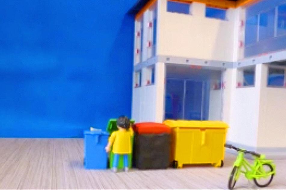 Das Müllsystem in Deutschland ist kompliziert. Nicht nur Flüchtlinge haben damit ein Problem, auch Deutsche! Deshalb erklärt die Stadt Harsewinkel jetzt mit einem Trickfilm, wie's funktioniert.