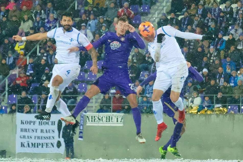 Dominik Wydra (mi.) ließ mit seiner Hintermannschaft gegen Darmstadt wenig zu.