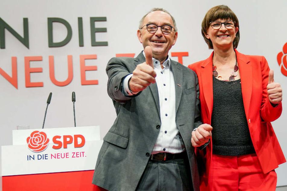 Offiziell: Esken und Walter-Borjans neues SPD-Führungsduo: Kühnert neuer Vizechef