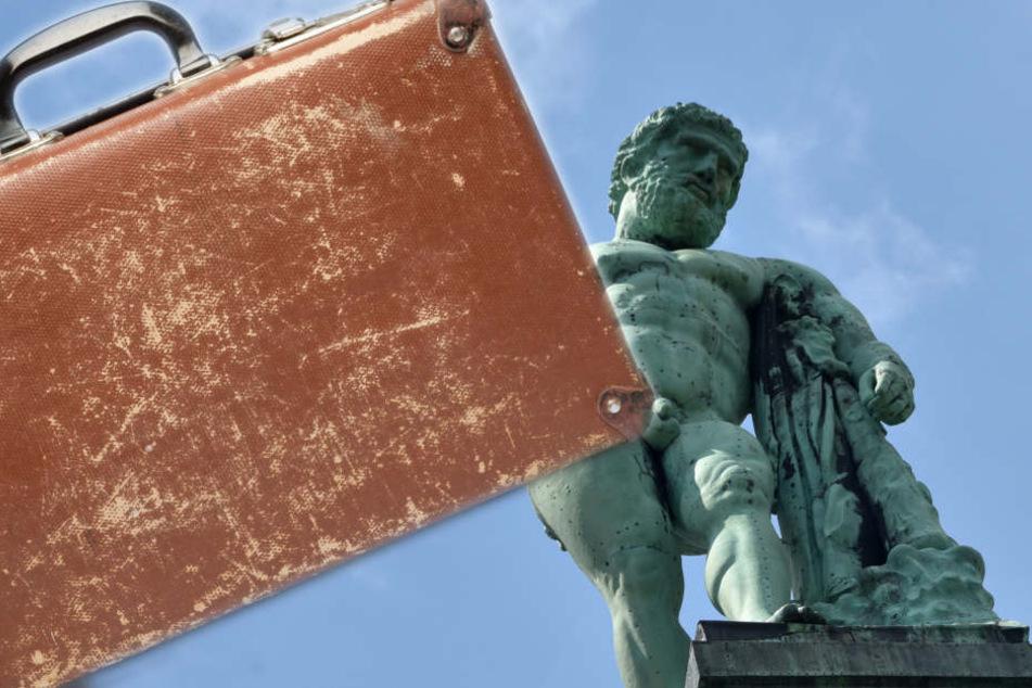 Mit dem Kulturkoffer will der Kultusminister die Schätze Hessens (rechts: Kasseler Herkules) bekannter machen.(Symbolbild(Fotomontage )