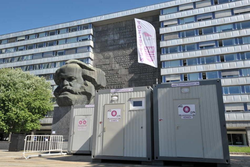 Die Männer waren direkt vor dem Marx-Monument aneinander geraten.