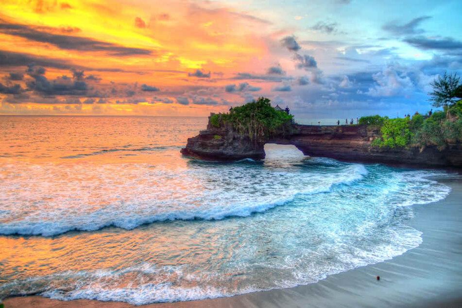 Der Tanah Lot Temple auf Bali.