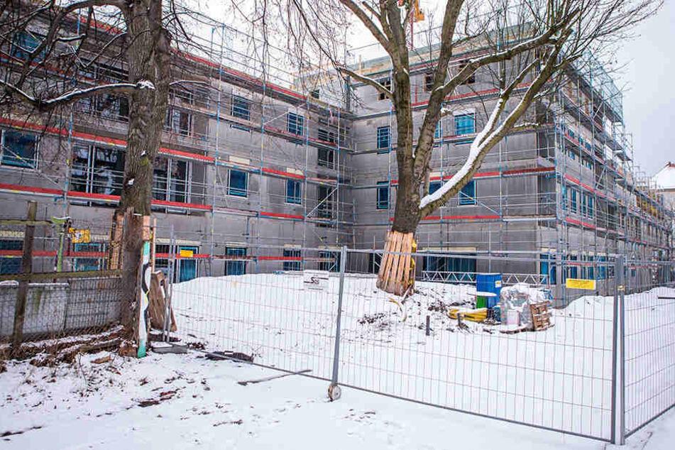 Am Montag wurde eine tote Frau auf dieser Leipziger Baustelle entdeckt.