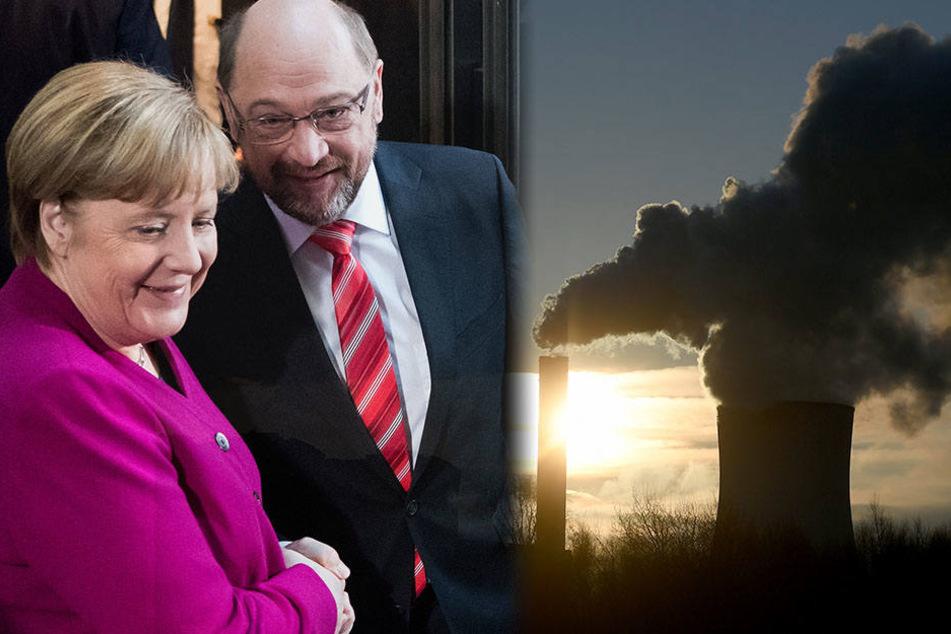 Verabschieden sich Angela Merkel und Martin Schulz von den deutschen Klimaschutzzielen?