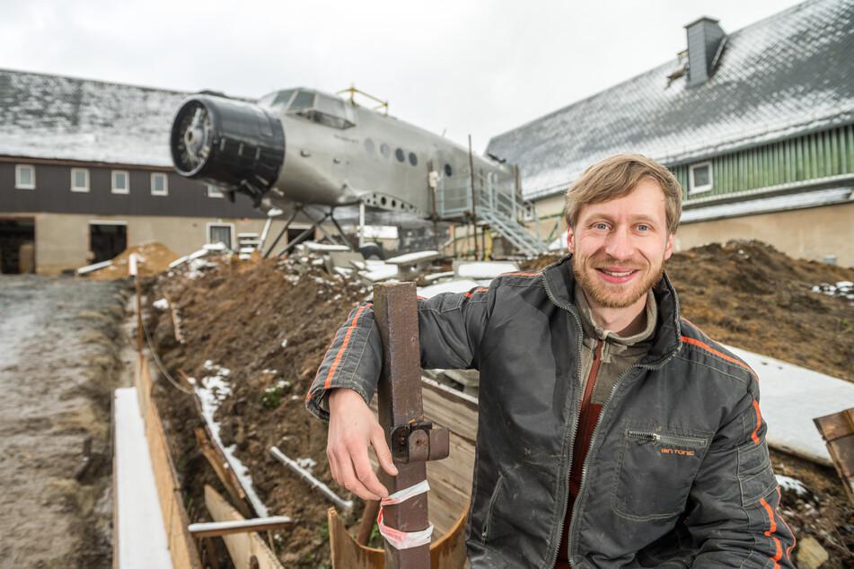 Erik Herbert (33) will den Flieger zur Ferienwohnung umbauen.