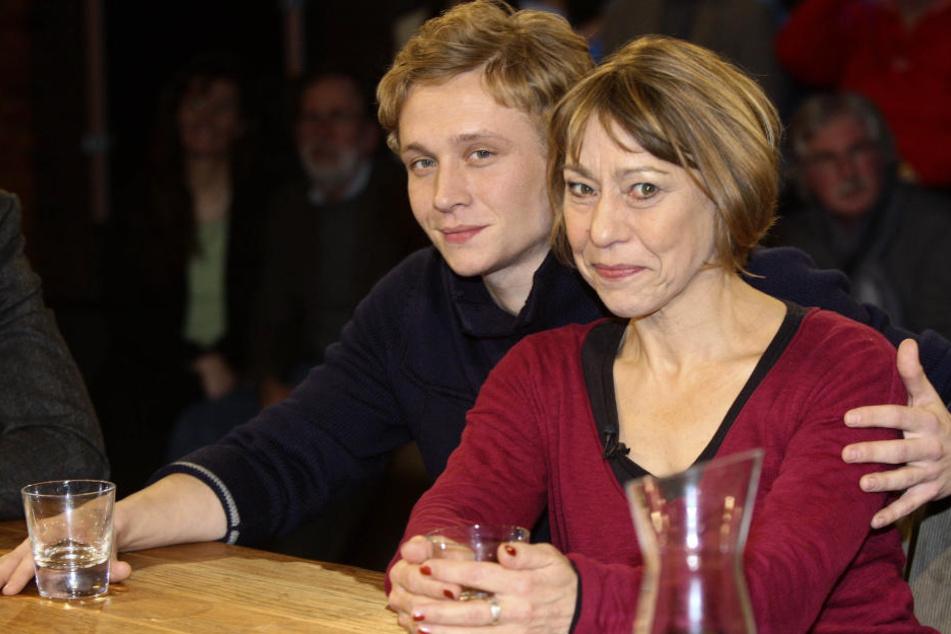 Gitta Schweighöfer mit ihrem Sohn, Matthias Schweighöfer.
