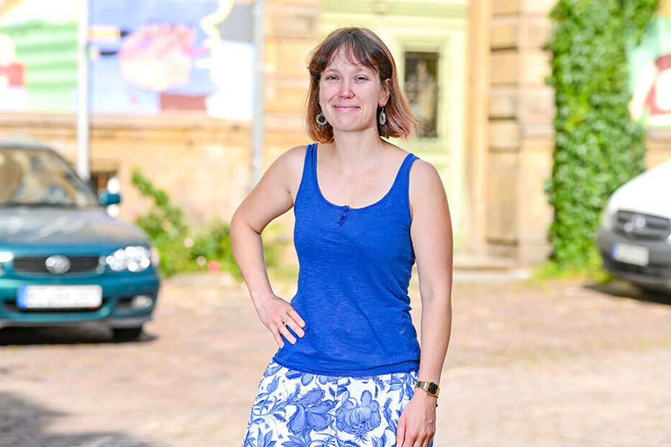 Die Dresdner Chemieingenieur-Studentin Maria Stier (34) ist heute Wahlvorstand im Wahlbezirk 11300 - Gymnasium Dreikönigsschule.