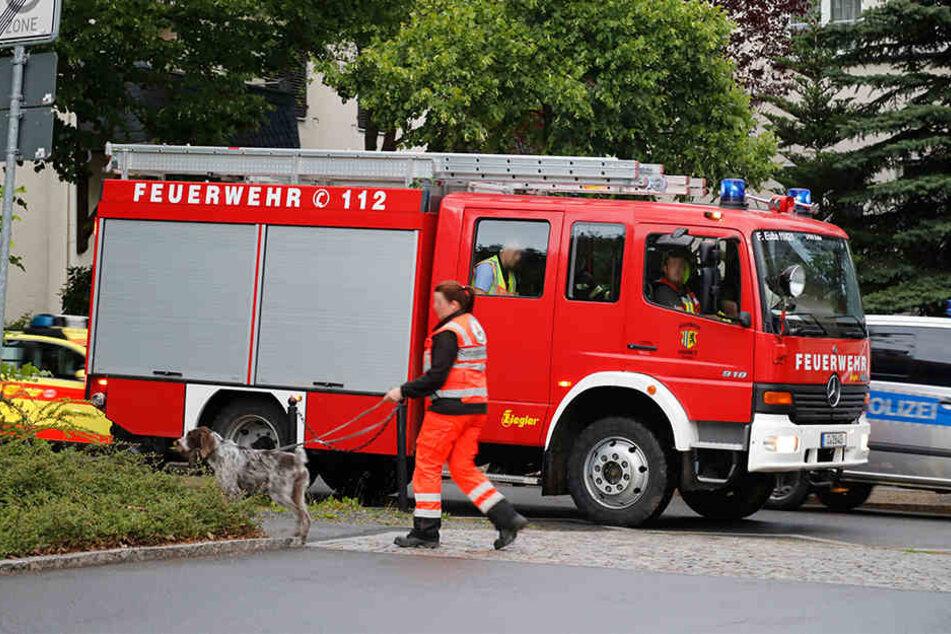 Neben den Rettungshunden war auch die Feuerwehr bei der Suche im Einsatz.