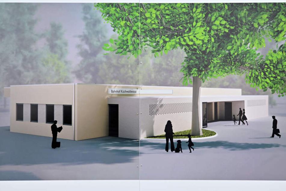 Schöner neuer Bahnhof: Etwa so soll laut Projektdarstellung in Zukunft das Bahnhofsgebäude der Parkbahn aussehen.