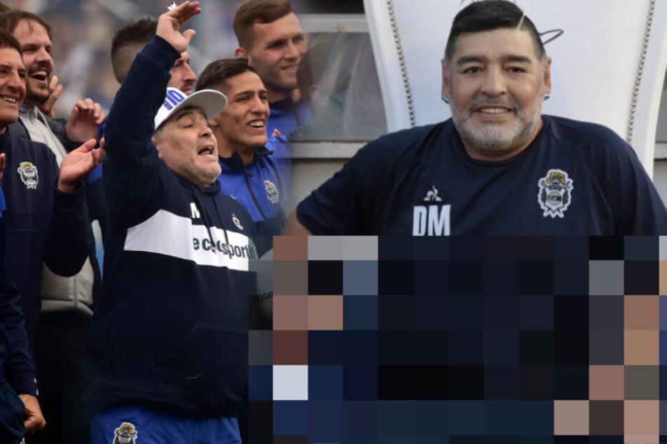 Netz feiert Maradona: Damit tauscht er seine Trainerbank aus!