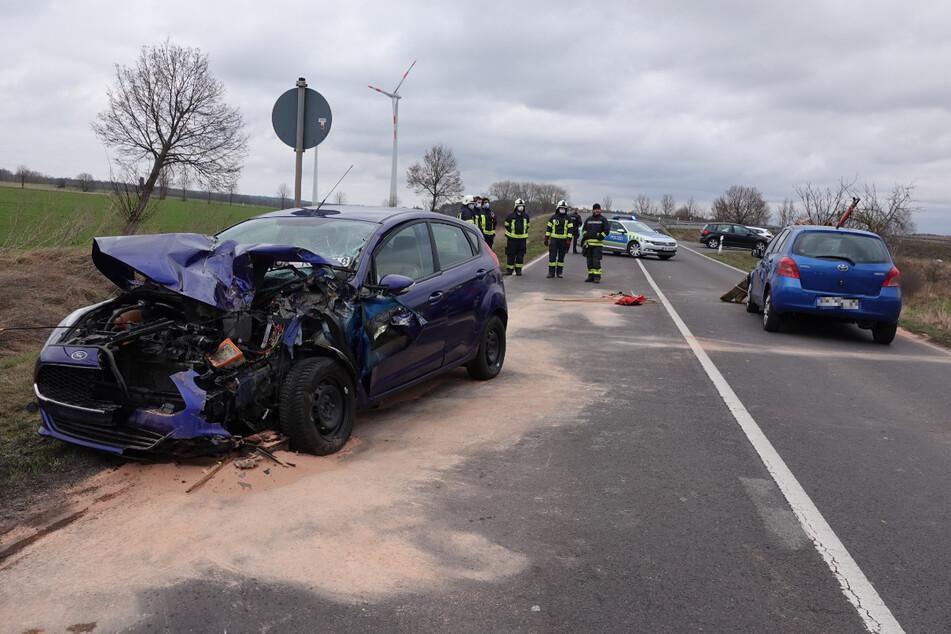 Die Verbindungsstraße zwischen Haldensleben und Neuenhofe musste im Zuge der Unfallaufnahme vorübergehend gesperrt werden.