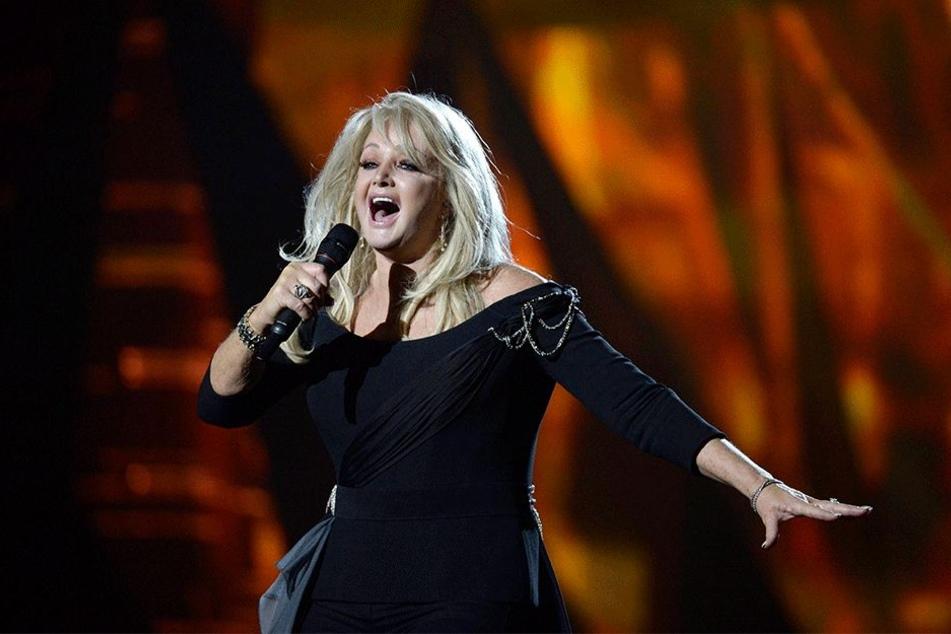 """Nach mehr als 40 Jahren auf der Bühne ist Bonnie Tyler noch immer gut bei Stimme. Mit dem Song """"Believe In Me"""" trat sie 2013 beim Eurovision Song Contest in Malmö für Großbritannien an."""