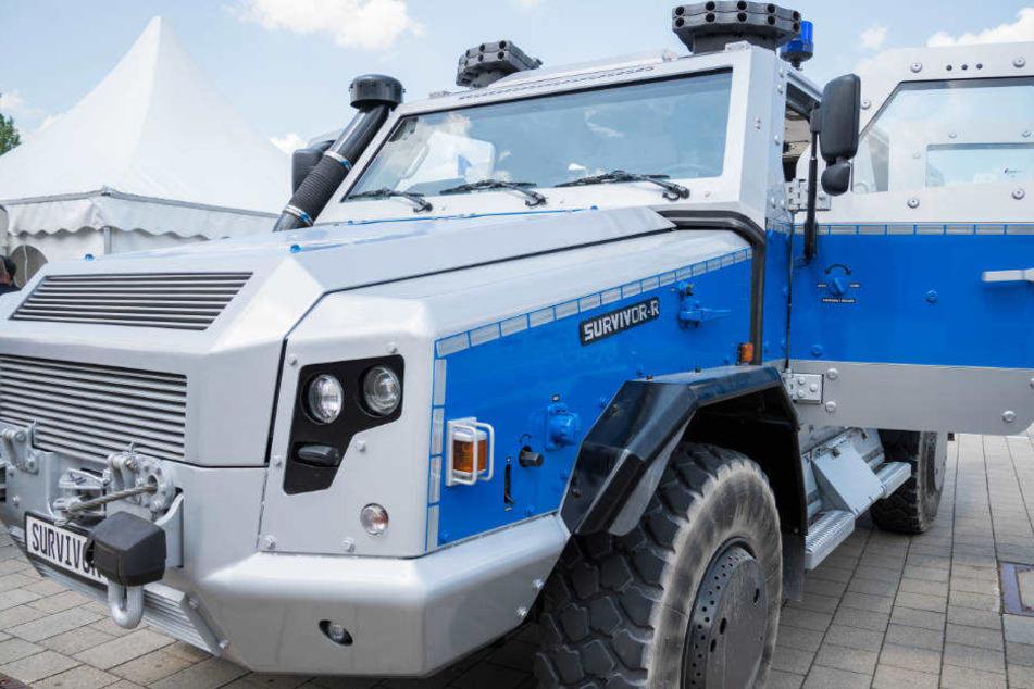 """Der """"Survivor R"""" wird vom Rüstungskonzern Rheinmetall in Düsseldorf hergestellt."""