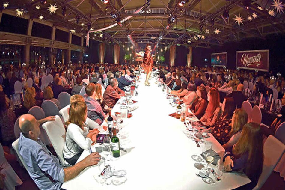 "Große Showmomente: Die Dinnershow ""Moments"" kam beim Publikum richtig gut an."