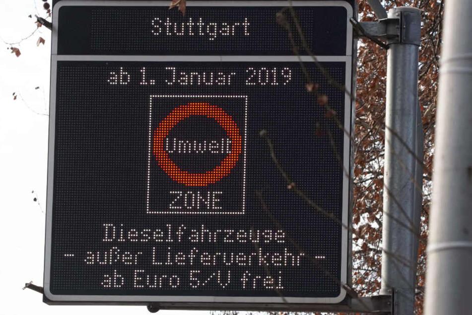 Seit dem 1. Januar heißt es für ältere Diesel in Stuttgart: Draußen bleiben!
