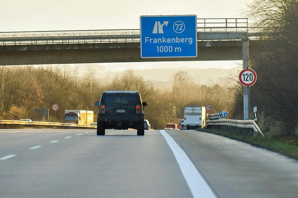 Wer in Hainichen auf- oder abfahren will, wird über Frankenberg umgeleitet.