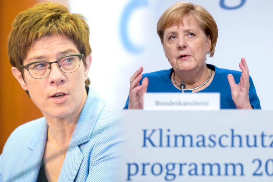 Was soll das denn? Merkel und AKK fliegen in zwei Maschinen am gleichen Tag in die USA