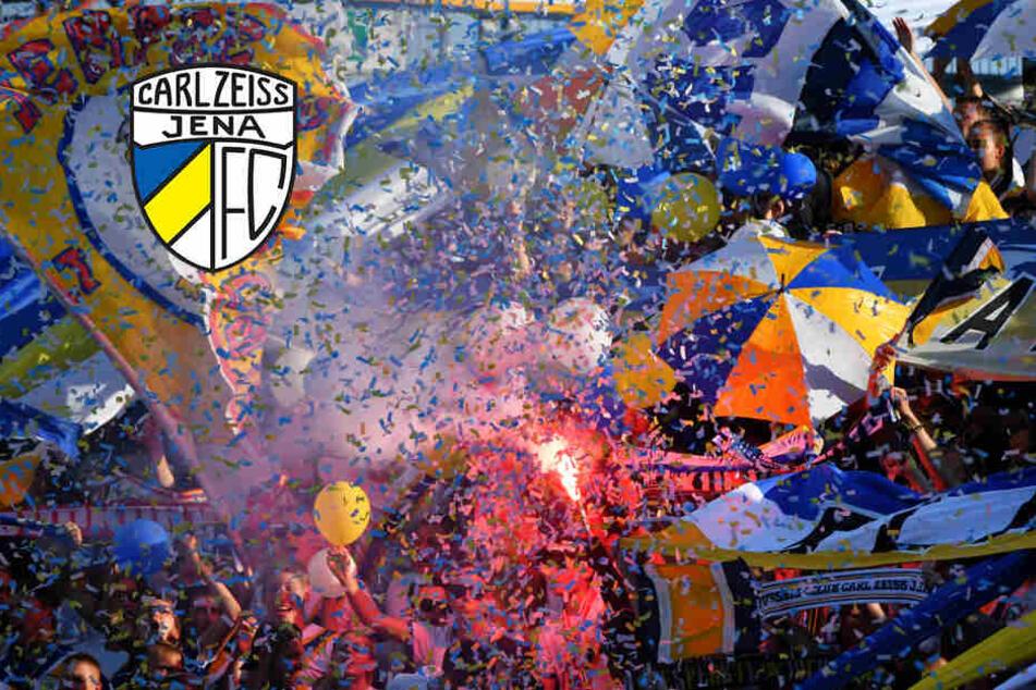 Gegen Union Berlin hatten die Jenaer Fans immer wieder Pyrotechnik abgebrannt.