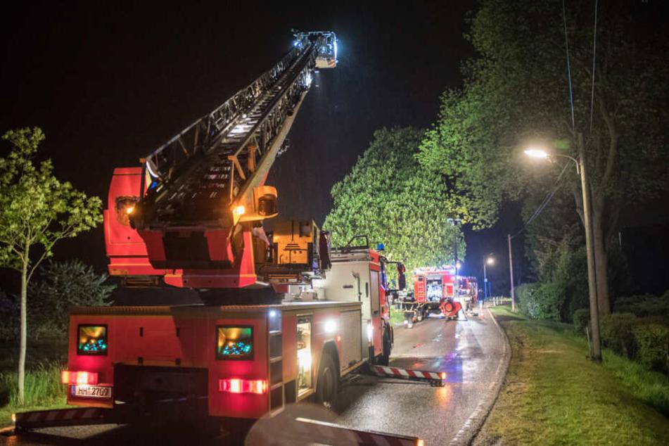 Der Einsatz blockierte die Straße auf dem Allermöher Deich in Hamburg mehrere Stunden lang.
