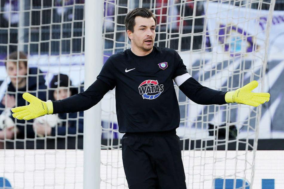 Martin Männel konnte einem am Sonntag bei der 1:4-Pleite gegen Dynamo einfach nur leid tun.