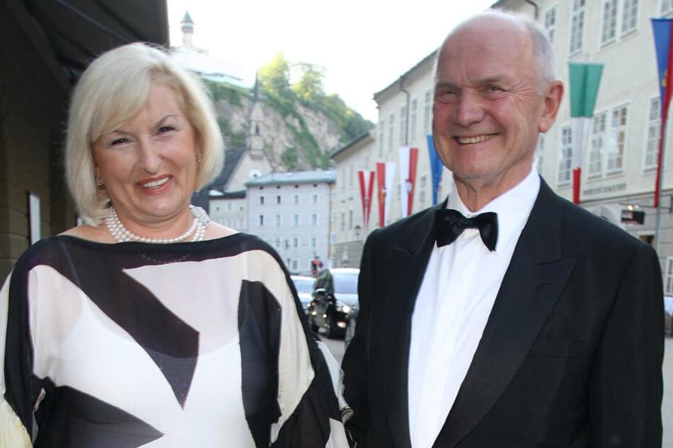 Ferdinand Piech, damaliger Aufsichtsratsvorsitzender der Volkswagen AG, und seine Ehefrau Ursula im Jahr 2008.