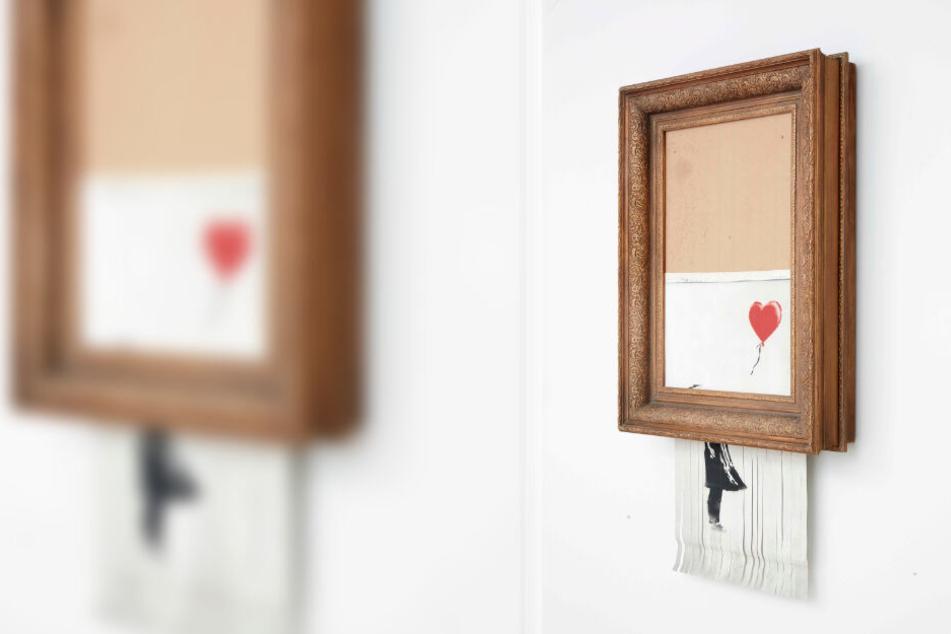 Das Bild wurde bei einer Kunstauktion geschreddert.