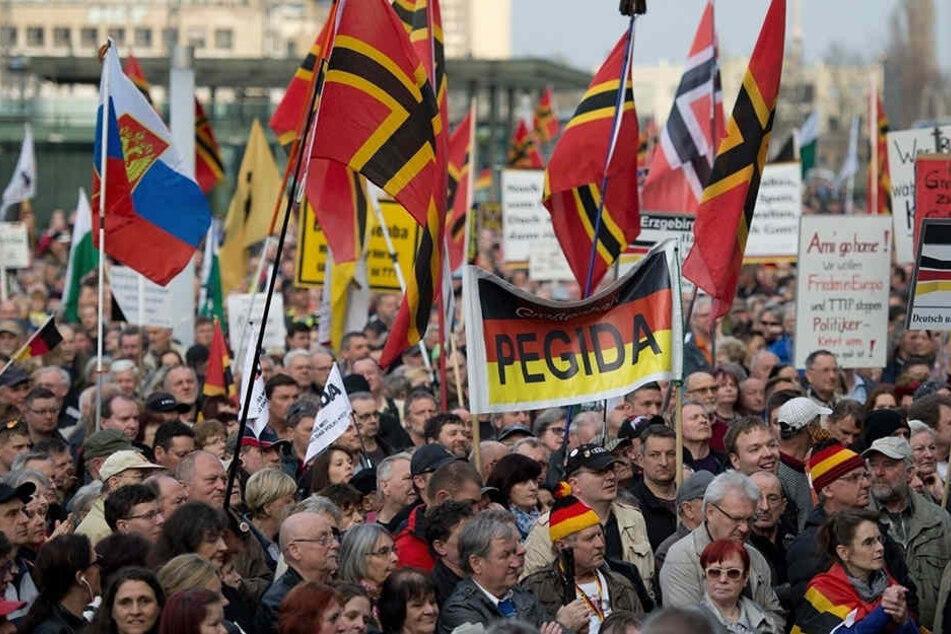 Das PEGIDA-Bündnis plant am 8. Mai eine Kundgebung auf dem Neumarkt.