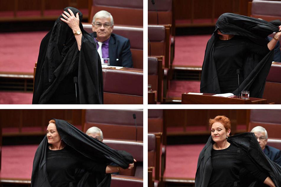Pauline Hanson kam ins australische Parlament mit Burka